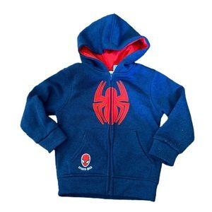 Marvel Spider-Man size 4T zip hoodie